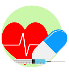 heart reanimation icon vector image vector image