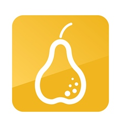 Pear outline icon fruit vector