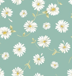 pretty daisy seamless background vector image vector image