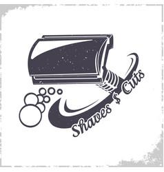 t-shaped razor logo vector image vector image