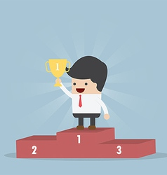 The Winner Businessman vector image