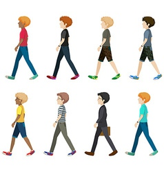 A group of faceless people vector image