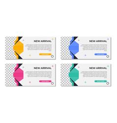 Abstract modern geometric banner template design vector