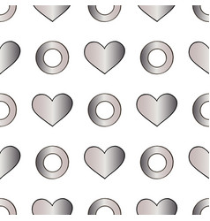 Abstract silver seamless pattern for vector