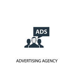 Advertising agency icon simple element vector