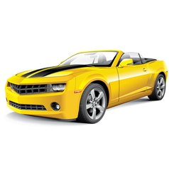 American muscle car convertible vector