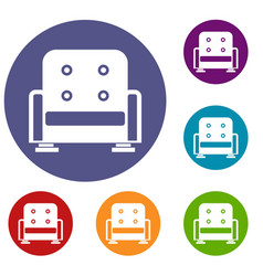 armchair icons set vector image