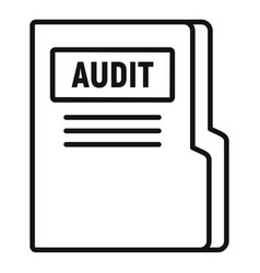 Audit company folder icon outline style vector