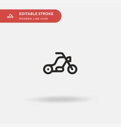 bike simple icon symbol vector image
