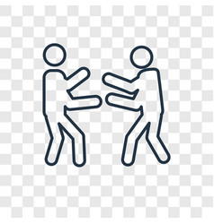 boxing concept linear icon isolated on vector image