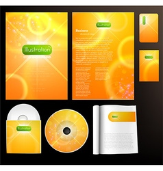 Brochure and CD Set for Businesses vector
