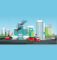 building fire vector image