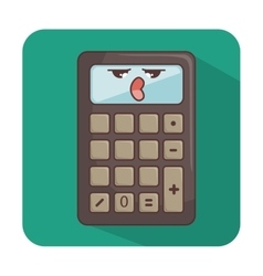 Calculator comic character icon vector