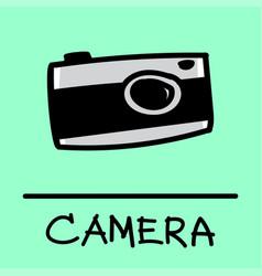 Camera hand-drawn style vector