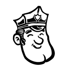 Cartoon cop police officer vector