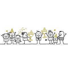 cartoon people - happy new year vector image