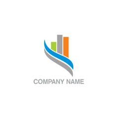 Chart business company logo vector