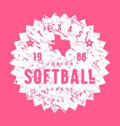 Circle emblem softball tournament in texas vector