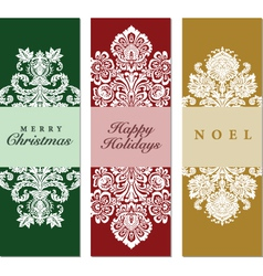 Collection tall holiday frames vector image