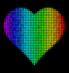 Colored dotted valentine heart icon vector