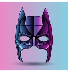 Colored mask superhero Batman vector