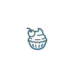 Cupcake icon design gastronomy icon vector