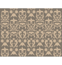 Damask abstract pattern with ornaments vector image