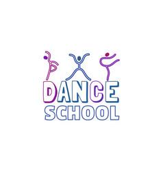 Dance logo concept vector