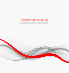 Elegant abstract background gray and red wave flow vector