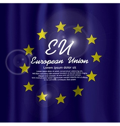 EU Flag Curtain vector image