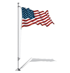 Flag Pole USA vector image