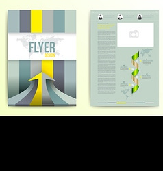 Flyer brochure cover design template vector image