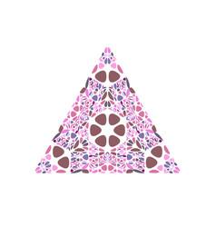 Geometrical ornate colorful flower ornament vector
