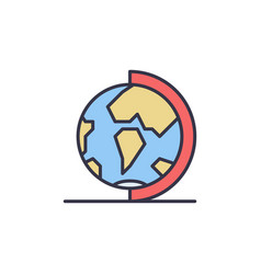 globe on stand concept colored icon or logo vector image