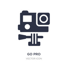 Go pro icon on white background simple element vector