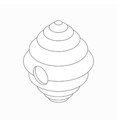 Hanging beehive icon isometric 3d style vector