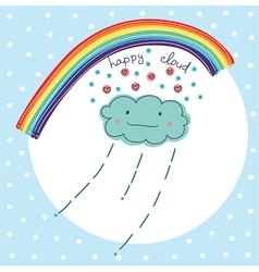 happy cloud vector image