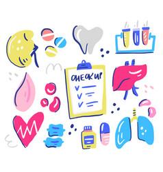 Healthcare interior organs vector