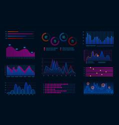 hud infographics futuristic infographic diagram vector image