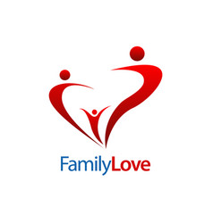 human character family love logo concept design vector image