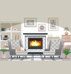 hygge style interior vector image