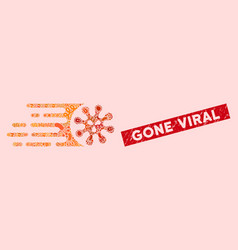 infected collage gone viral icon with distress vector image