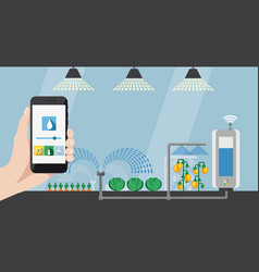 Internet of things in agriculture vector