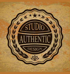Isolated badge for you design on a textured vector