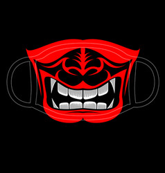 Japanese face mask vector