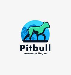 Logo dog vintage badge style vector