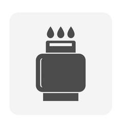 Lpg gas tank icon vector