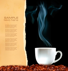 menu cup coffee vector image