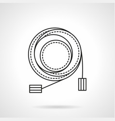 microphone cable flat line icon vector image