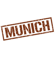 Munich brown square stamp vector